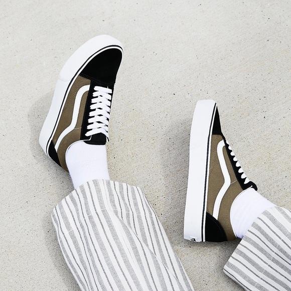 2ddf1996c8 Vans Black + Green Old Skool Platform Sneakers